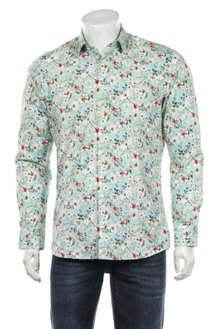 Мъжка риза Olymp, Размер M, Цвят Зелен, Памук, Цена 25,20лв.