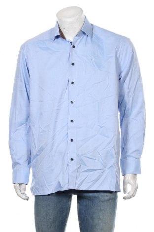 Мъжка риза Olymp, Размер L, Цвят Син, Памук, Цена 19,95лв.