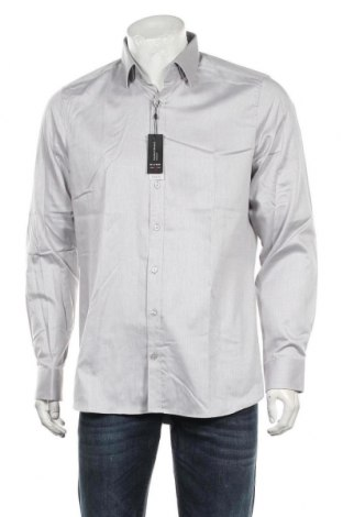 Мъжка риза Olymp, Размер L, Цвят Сив, 97% памук, 3% еластан, Цена 55,30лв.