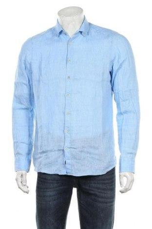 Мъжка риза Olymp, Размер M, Цвят Син, Лен, Цена 48,30лв.