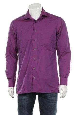 Мъжка риза Olymp, Размер M, Цвят Лилав, Памук, Цена 17,85лв.