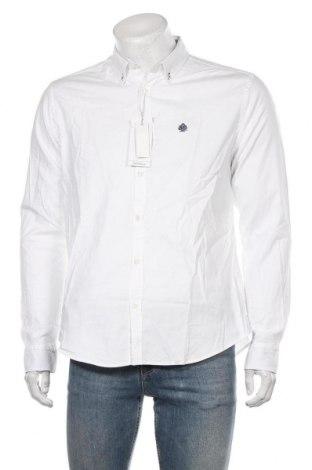 Męska koszula Springfield, Rozmiar XL, Kolor Biały, 97% bawełna, 3% elastyna, Cena 118,00zł