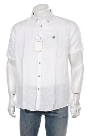 Męska koszula Springfield, Rozmiar XL, Kolor Biały, 62% len, 38% bawełna, Cena 118,00zł