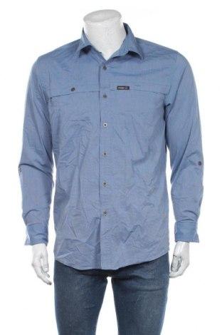 Ανδρικό πουκάμισο Wrangler, Μέγεθος M, Χρώμα Μπλέ, 60% βαμβάκι, 36% πολυεστέρας, 4% ελαστάνη, Τιμή 23,38€