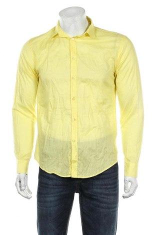 Męska koszula Zara Man, Rozmiar M, Kolor Żółty, Bawełna, Cena 84,00zł