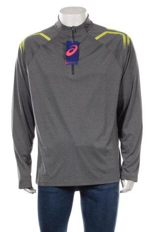 Мъжка спортна блуза ASICS, Размер XXL, Цвят Сив, Полиестер, Цена 51,75лв.