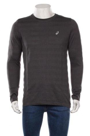 Мъжка спортна блуза ASICS, Размер XL, Цвят Сив, 56% полиестер, 44% памук, Цена 51,75лв.