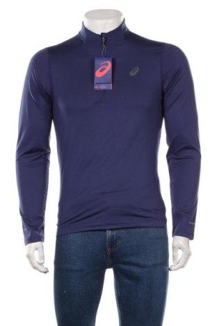 Мъжка спортна блуза ASICS, Размер S, Цвят Син, 88% полиестер, 12% еластан, Цена 51,75лв.