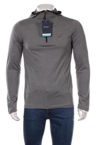 Bluză trening de bărbați ASICS, Mărime M, Culoare Gri, 92% poliester, 8% elastan, Preț 170,23 Lei