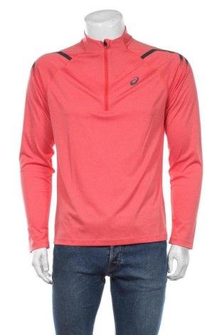 Мъжка спортна блуза ASICS, Размер M, Цвят Розов, Полиестер, Цена 51,75лв.