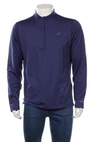 Мъжка спортна блуза ASICS, Размер XL, Цвят Син, 88% полиестер, 12% еластан, Цена 48,00лв.