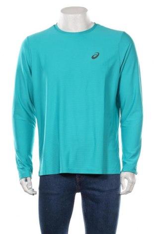 Bluză trening de bărbați ASICS, Mărime L, Culoare Verde, Poliester, Preț 170,23 Lei