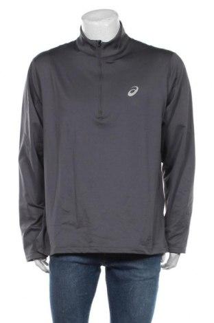 Мъжка спортна блуза ASICS, Размер XXL, Цвят Сив, 91% полиестер, 9% еластан, Цена 51,75лв.
