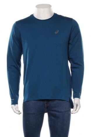 Мъжка спортна блуза ASICS, Размер L, Цвят Син, 65% полиамид, 35% полиестер, Цена 51,75лв.