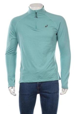 Мъжка спортна блуза ASICS, Размер XL, Цвят Син, 92% полиестер, 8% еластан, Цена 22,05лв.