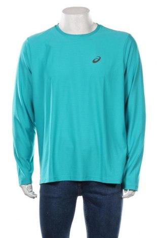 Мъжка спортна блуза ASICS, Размер XL, Цвят Зелен, Полиестер, Цена 51,75лв.