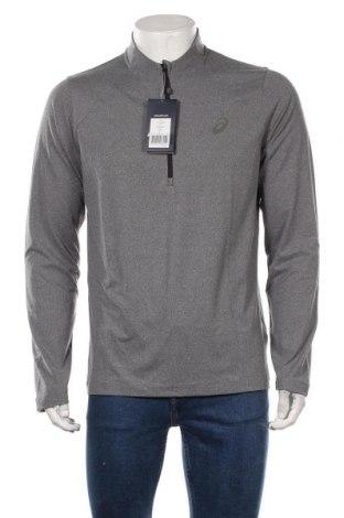 Bluză trening de bărbați ASICS, Mărime XL, Culoare Gri, 92% poliester, 8% elastan, Preț 170,23 Lei