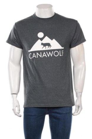Мъжка тениска, Размер M, Цвят Сив, 50% памук, 50% полиестер, Цена 16,50лв.