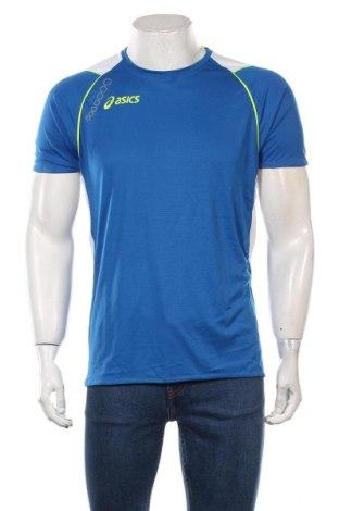 Męski T-shirt ASICS, Rozmiar L, Kolor Niebieski, Poliester, Cena 84,00zł