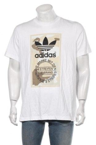 Мъжка тениска Adidas Originals, Размер L, Цвят Бял, Памук, Цена 33,12лв.