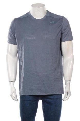 Męski T-shirt Adidas, Rozmiar L, Kolor Niebieski, Poliester, Cena 138,00zł