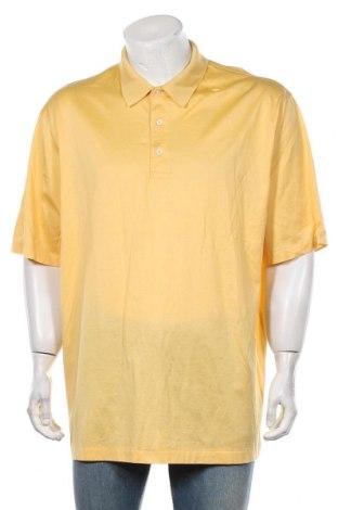 Мъжка тениска Brooks Brothers, Размер XL, Цвят Жълт, Памук, Цена 42,00лв.