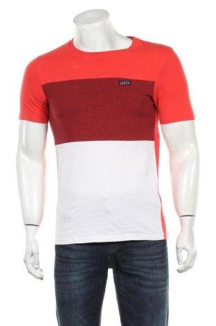 Мъжка тениска Core By Jack & Jones, Размер S, Цвят Червен, Памук, Цена 21,00лв.