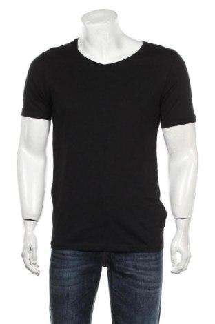 Мъжка тениска Core By Jack & Jones, Размер M, Цвят Черен, Памук, Цена 49,00лв.