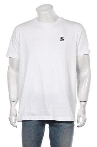 Мъжка тениска Diesel, Размер XXL, Цвят Бял, Памук, Цена 62,30лв.