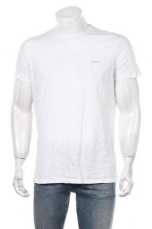 Мъжка тениска Diesel, Размер XL, Цвят Бял, Памук, Цена 42,16лв.