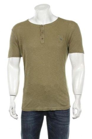 Мъжка тениска Diesel, Размер M, Цвят Зелен, Памук, Цена 24,15лв.