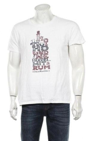Мъжка тениска Dreimaster, Размер L, Цвят Бял, Памук, Цена 29,25лв.