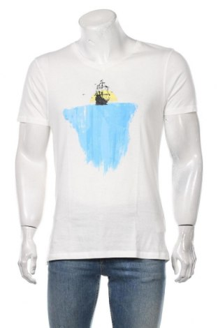 Мъжка тениска Dreimaster, Размер L, Цвят Бял, Памук, Цена 34,50лв.