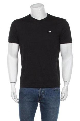 Tricou de bărbați Emporio Armani, Mărime L, Culoare Negru, Bumbac, Preț 339,97 Lei