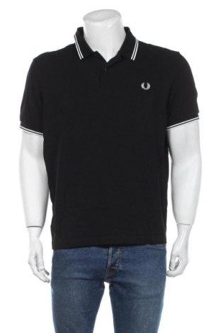 Мъжка тениска Fred Perry, Размер XL, Цвят Черен, Памук, Цена 60,52лв.