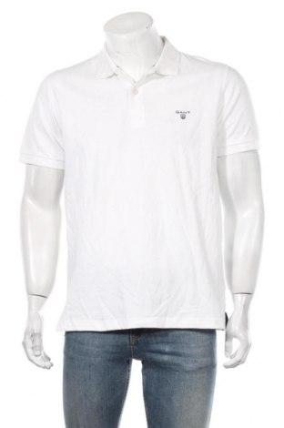Мъжка тениска Gant, Размер L, Цвят Бял, Памук, Цена 55,76лв.