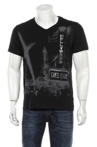 Мъжка тениска Guess, Размер S, Цвят Черен, Памук, Цена 25,20лв.