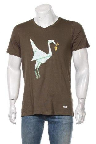 Мъжка тениска HOMEBASE, Размер L, Цвят Зелен, Памук, Цена 40,12лв.
