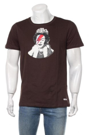 Мъжка тениска HOMEBASE, Размер L, Цвят Кафяв, Памук, Цена 40,12лв.