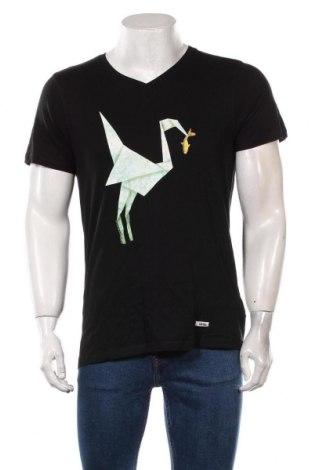 Мъжка тениска HOMEBASE, Размер M, Цвят Черен, Памук, Цена 51,75лв.