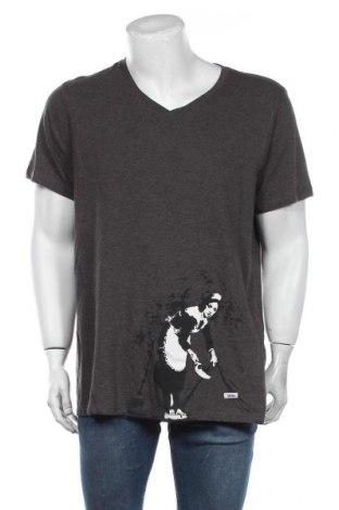 Мъжка тениска HOMEBASE, Размер XXL, Цвят Сив, 60% памук, 40% полиестер, Цена 44,25лв.