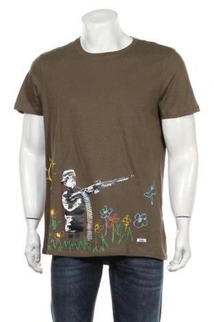 Мъжка тениска HOMEBASE, Размер XL, Цвят Зелен, Памук, Цена 44,25лв.
