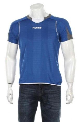 Мъжка тениска Hummel, Размер S, Цвят Син, Полиестер, Цена 17,85лв.