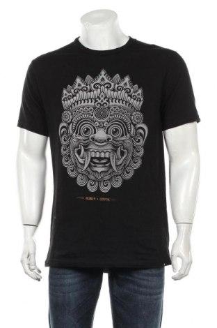 Мъжка тениска Hurley, Размер L, Цвят Черен, Памук, Цена 28,35лв.