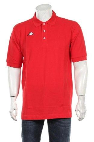 Мъжка тениска Kappa, Размер XL, Цвят Червен, Памук, Цена 27,00лв.