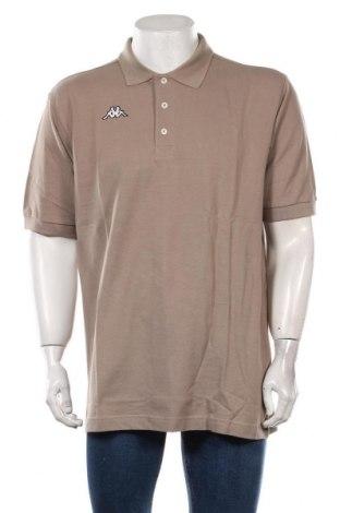 Мъжка тениска Kappa, Размер XL, Цвят Бежов, Памук, Цена 27,00лв.
