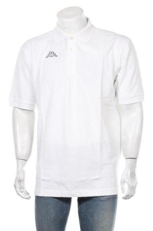 Мъжка тениска Kappa, Размер XL, Цвят Бял, Памук, Цена 27,00лв.