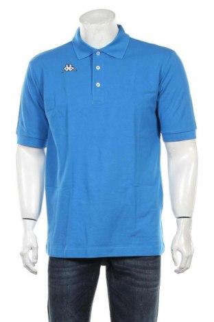 Мъжка тениска Kappa, Размер L, Цвят Син, Памук, Цена 24,00лв.