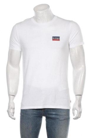 Мъжка тениска Levi's, Размер M, Цвят Бял, Памук, Цена 39,00лв.