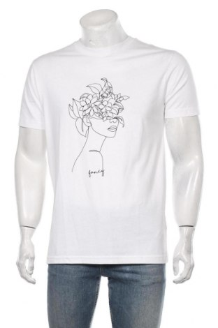 Мъжка тениска Mister Tee, Размер M, Цвят Бял, Памук, Цена 22,40лв.